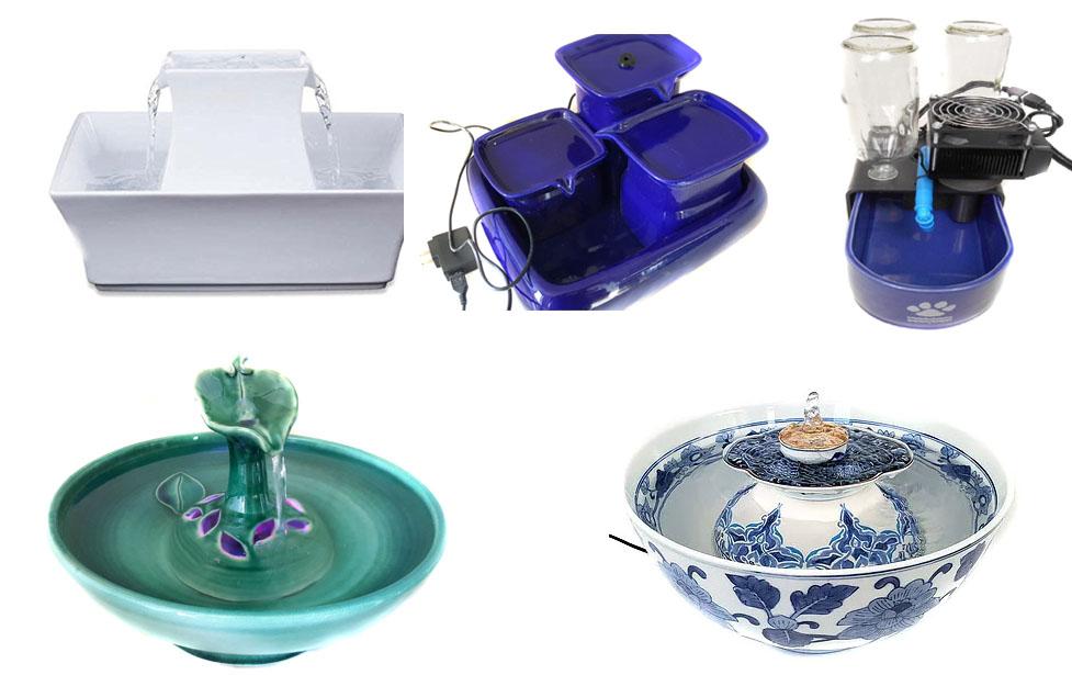 ceramic cat fountains