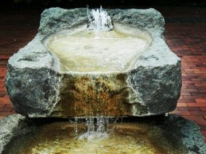 indoor fountain for meditation