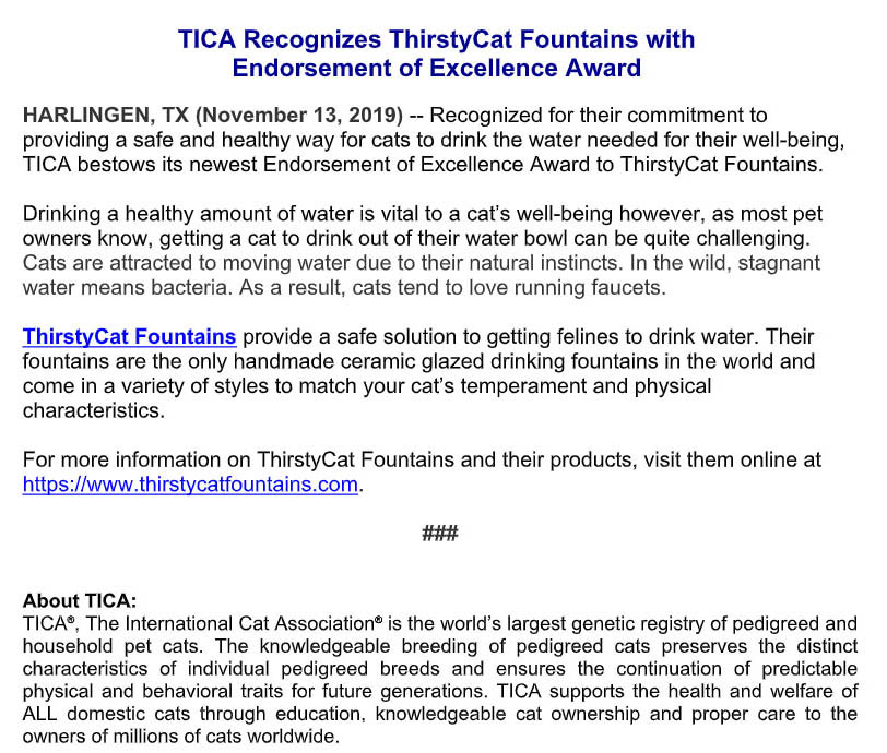 ThirstyCat Fountains
