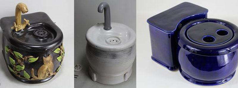 ceramic cat water fountains