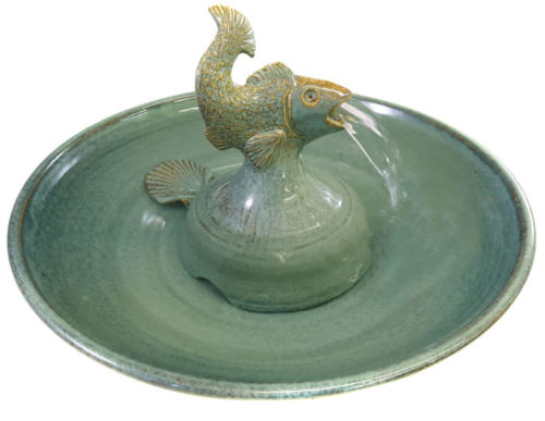 """""""Flying Fish"""" - Hand sculpted Stream Fountain - &235"""