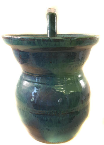 Rustic Fountain - Raised Bubble-up Image 1. This is a two part fountain including the pump cover, raised bubble-up.  It is 12 inches high and 11.5 inches in diameter.