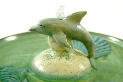 """Dolphin"" - Bubble-up Fountain - $320"