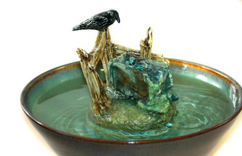"""Farm Crow"" - Bubble-up Fountain - $260"