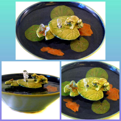 Frog and Butterfly - Bubble-up Fountain$375